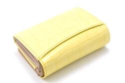 COCCO(コッコ) 二つ折り財布(小銭入れあり) 「ル・プレリーギンザ 」 NPL9313 イエロー 裏面