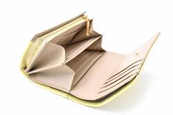 COCCO(コッコ) 二つ折り財布(小銭入れあり) 「ル・プレリーギンザ 」 NPL9313 イエロー 内作り