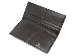 GINZAエレファント 長財布(小銭入れなし) 「プレリーギンザ」 NPM1136 グレー 内作り