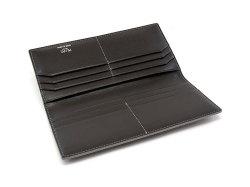 GINZAエレファント 長財布(小銭入れなし) 「プレリーギンザ」 NPM1136 グレー 内作り2