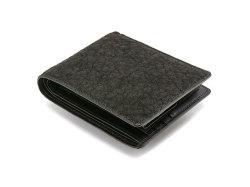 GINZAエレファント 二つ折り財布(小銭入れあり) 「プレリーギンザ」 NPM1235 クロ 裏面