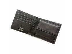 GINZAエレファント 二つ折り財布(小銭入れあり) 「プレリーギンザ」 NPM1235 クロ 内作り