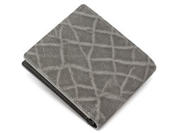 GINZAエレファント 二つ折り財布(小銭入れあり) 「プレリーギンザ」 NPM1235 グレー 裏面