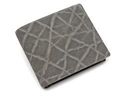 GINZAエレファント 二つ折り財布(小銭入れあり) 「プレリーギンザ」 NPM1235 グレー 正面