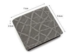 GINZAエレファント 二つ折り財布(小銭入れあり) 「プレリーギンザ」 NPM1235 サイズ