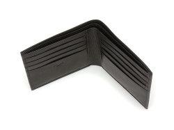 Kip Classic(キップクラシック) 二つ折り財布(小銭入れなし) 「プレリーギンザ」 NPM2222 ブラック 内作り