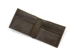 Kip Classic(キップクラシック) 二つ折り財布(小銭入れなし) 「プレリーギンザ」 NPM2222 ダークブラウン 内作り2