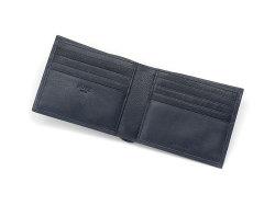 Kip Classic(キップクラシック) 二つ折り財布(小銭入れなし) 「プレリーギンザ」 NPM2222 ネイビー 内作り2