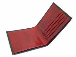 Victoria(ヴィクトリア) 二つ折り財布(小銭入れなし) 「プレリーギンザ」 NPT5212 ブラック 内作り