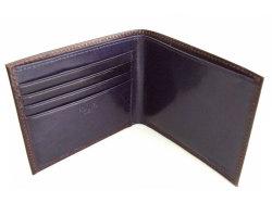 Victoria(ヴィクトリア) 二つ折り財布(小銭入れなし) 「プレリーギンザ」 NPT5212 ダークブラウン 内作り