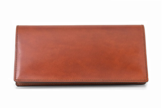 Natural Cordovan(ナチュラルコードバン)  長財布 「プレリーギンザ」 NP48033 チョコ 正面