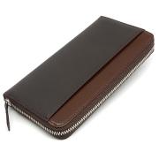 モデルプッシュ ラウンドファスナー長財布「プレリーギンザ」NP75722 チョコ 正面