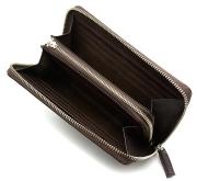 モデルプッシュ ラウンドファスナー長財布「プレリーギンザ」NP75722 チョコ 内作り