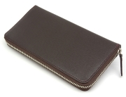 モデルプッシュ ラウンドファスナー長財布「プレリーギンザ」NP75722 チョコ 裏面