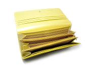 Signature(シグネチャー) 長財布 「ゴールドファイル」 GP34013 イエロー 内作り