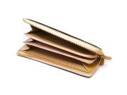 Signature(シグネチャー) L字ファスナー長財布 「ゴールドファイル」 GP34112 シャンパンゴールド 内作り