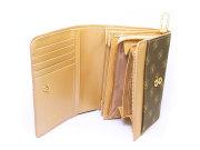 Signature(シグネチャー) 二つ折り財布(小銭入れあり) 「ゴールドファイル」 GP34213 シャンパンゴールド 内作り