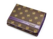 Signature(シグネチャー) 二つ折り財布(小銭入れあり) 「ゴールドファイル」 GP34213 パープル 正面