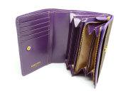 Signature(シグネチャー) 二つ折り財布(小銭入れあり) 「ゴールドファイル」 GP34213 パープル 内作り