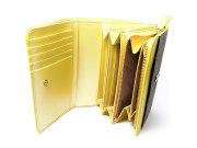 Signature(シグネチャー) 二つ折り財布(小銭入れあり) 「ゴールドファイル」 GP34213 イエロー 内作り