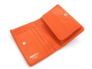 Natural(ナチュラル) 二つ折り財布(BOX小銭入れあり) 「ゴールドファイル」 GP54113 オレンジ 内作り