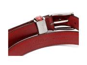 牛革 チャ系色バリエーションベルト 30mm幅 ピン式 「プレリーギンザ」 NB17710 ライトマロン 裏面