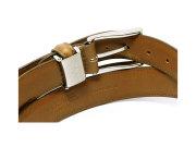牛革 チャ系色バリエーションベルト 30mm幅 ピン式 「プレリーギンザ」 NB17710 オーク 裏面