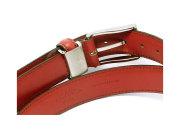 牛革 チャ系色バリエーションベルト 30mm幅 ピン式 「プレリーギンザ」 NB17710 オレンジブラウン 裏面