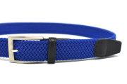 ストレッチゴムメッシュベルト 「 FUN+WALK × プレリーギンザ 」 NB24160 ブルー 正面