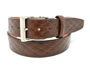 Quilt Design Belt (キルトデザインベルト) 「プレリー1957」 NBZ1000 チョコ 正面
