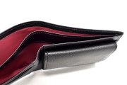 KOBE LEATHER(神戸レザー) 二つ折り財布(小銭入れあり)「プレリーギンザ」 NP55115 クロ 内作り
