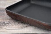 Artigiano(アルチジャーノ)牛革トレー正方形 「プレリーギンザ」 NP72013 ダークブラウン 側面