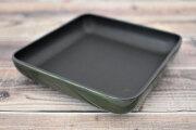 Artigiano(アルチジャーノ)牛革トレー正方形 「プレリーギンザ」 NP72013 グリーン 正面