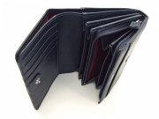 印伝 二つ折り財布(小銭入れあり) 「ル・プレリー 」  NPE4210 コン/シロ 内作り
