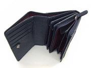 印伝 二つ折り財布(小銭入れあり) 「ル・プレリー 」  NPE4210 アカ/シロ 内作り