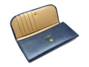 Bijue(ビジュー) コンパクト長財布(小銭入れあり) 「ル・プレリー 」 NPL1195 ネイビー 内作り