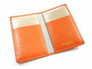 Bijue(ビジュー) カードケース 「ル・プレリー 」 NPL1755 オレンジ 内作り