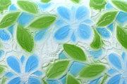 プリムラ 「ル・プレリーギンザ」 花柄 サックス