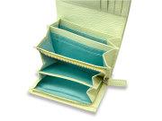プリムラ 二つ折り財布(小銭入れあり) 「ル・プレリーギンザ」 NPL4213 ブルー 内作り3