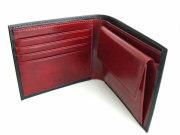 Victoria(ヴィクトリア) 二つ折り財布(小銭入れあり) 「プレリーギンザ」 NPT5118 ブラック 内作り