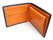 Victoria(ヴィクトリア) 二つ折り財布(小銭入れあり) 「プレリーギンザ」 NPT5118 ネイビー 内作り