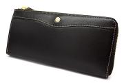 オックスフォード 長財布(L字ファスナー) 「ゴールドファイル」 GP11828 ブラック 正面