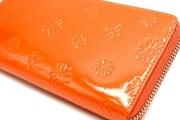 ユリシス L字ファスナー長財布 「ル・プレリー」 np22111 オレンジ 特徴