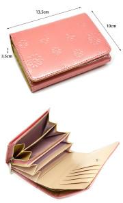 ユリシス 二つ折り財布 「ル・プレリー」 NP22213 サイズ