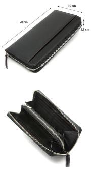 モデルプッシュ ラウンドファスナー長財布「プレリーギンザ」NP75722 サイズ