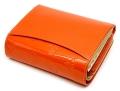 ユリシス 二つ折り財布 「ル・プレリー」 NP22213 オレンジ 裏面