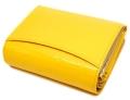 ユリシス 二つ折り財布 「ル・プレリー」 NP22213 イエロー 裏面