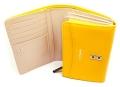 ユリシス 二つ折り財布 「ル・プレリー」 NP22213 イエロー 内作り2